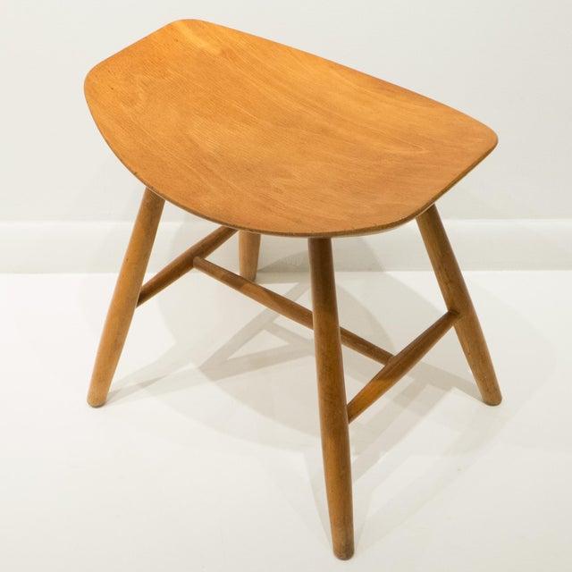 Mid-Century Modern Ejvind Johansson Stool for FDB Mobler For Sale - Image 3 of 10