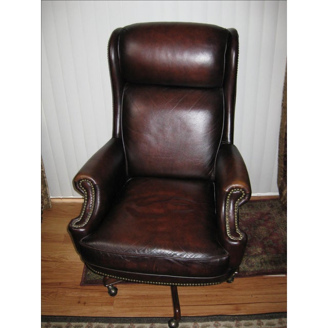 Hooker Leather Office Chair - Image 2 of 10