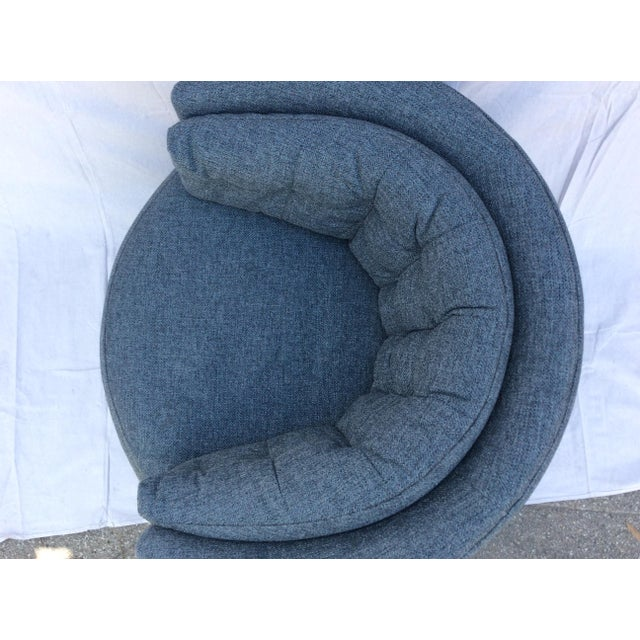 1960s Mid Century Barrel Swivel Chair For Sale - Image 5 of 12