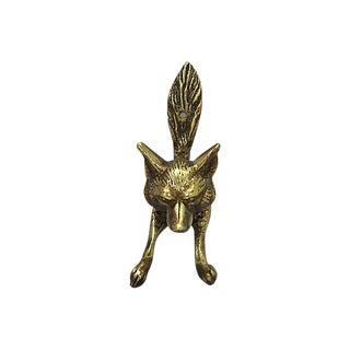 Antique English Brass Fox Door Knocker For Sale