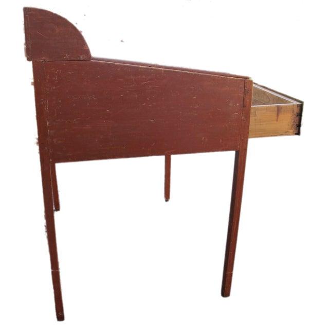 Original Red Painted Schoolmaster's Desk - Image 9 of 9
