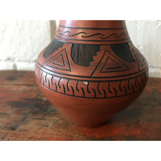 Ceramic Navajo Brown Pottery Vases - a Pair For Sale - Image 7 of 10