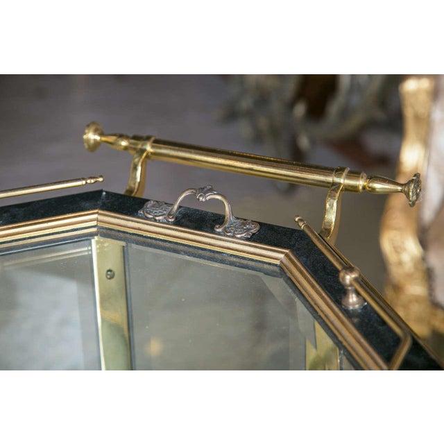 Bronze & Glass Vitrine Tea Wagon Cart For Sale - Image 4 of 8