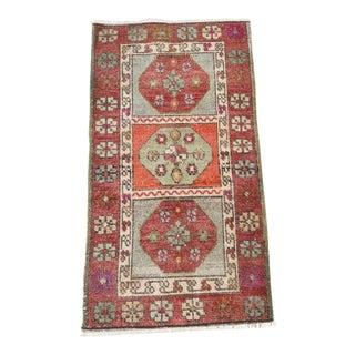 "Antique Turkish Handmade Rug-1'4'x2'6"" For Sale"