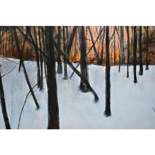 """Paint Stephen Remick """"Sunrise in the Snowy Woods"""" Painting For Sale - Image 7 of 13"""