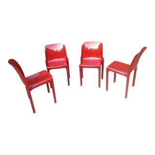 1960s Vico Magistretti Selene Chairs for Artemide - Set of 2 For Sale