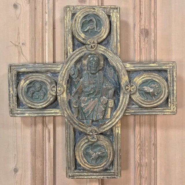 Italian 18th Century Italian Polychrome Cross For Sale - Image 3 of 9