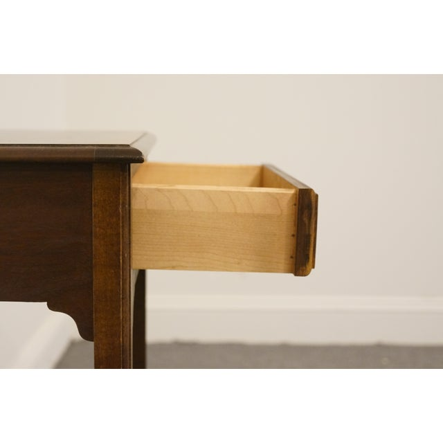 """Wood 20th Century Traditional Sherrill Furniture Banded Mahogany 18"""" Nightstand For Sale - Image 7 of 13"""