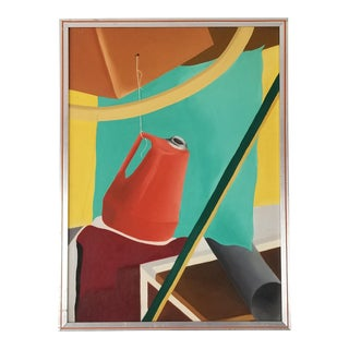 1960s Vintage / Postmodern Surrealist Abstract Painting For Sale