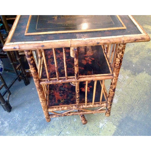 Chinoiserie Bamboo Revolving Bookcase For Sale - Image 9 of 13