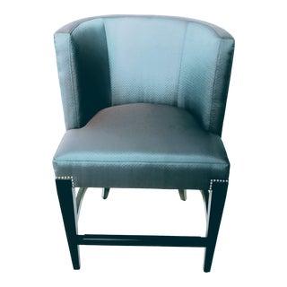 Contemporary Bernhardt Blue Fabric Counter Height Stool