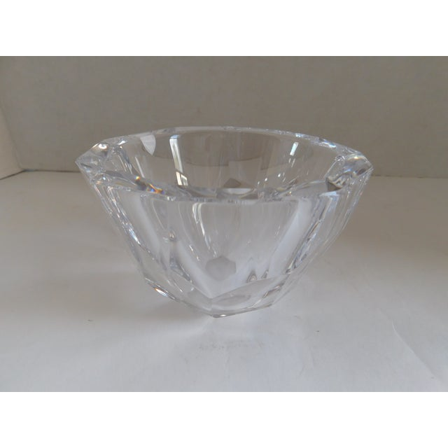 Orrefors Sweden Small Cut Crystal Bowl For Sale - Image 11 of 12