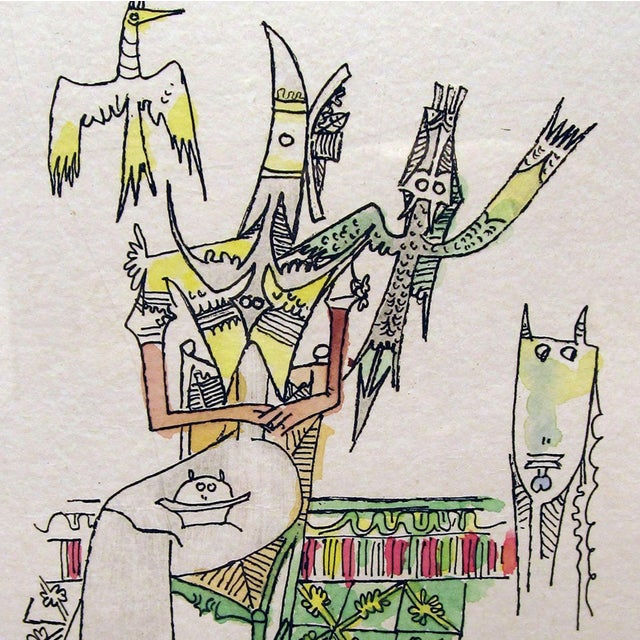 Wifredo Lam Untitled Watercolor Etching For Sale - Image 4 of 6