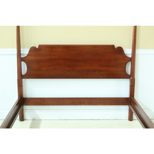 Item: 50178EC: STATTON Old Towne Cherry Full Size Poster Bed Age: C.1972 Details: Old Towne Finish Solid Cherry Quality...
