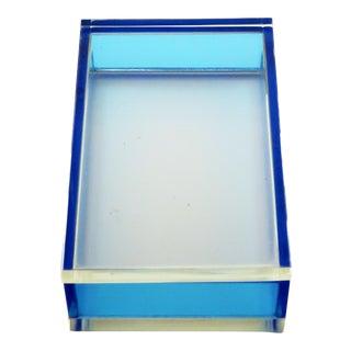 Vintage Blue & Clear Lucite Box For Sale