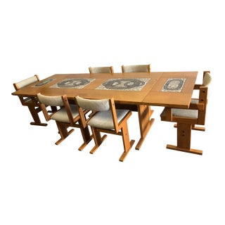 20th Century Danish Modern Poul H. Poulsen for Gangsø Møbler Teak Dining Set - 7 Pieces For Sale