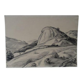 California Landscape Drawing by Ejnar Hansen For Sale