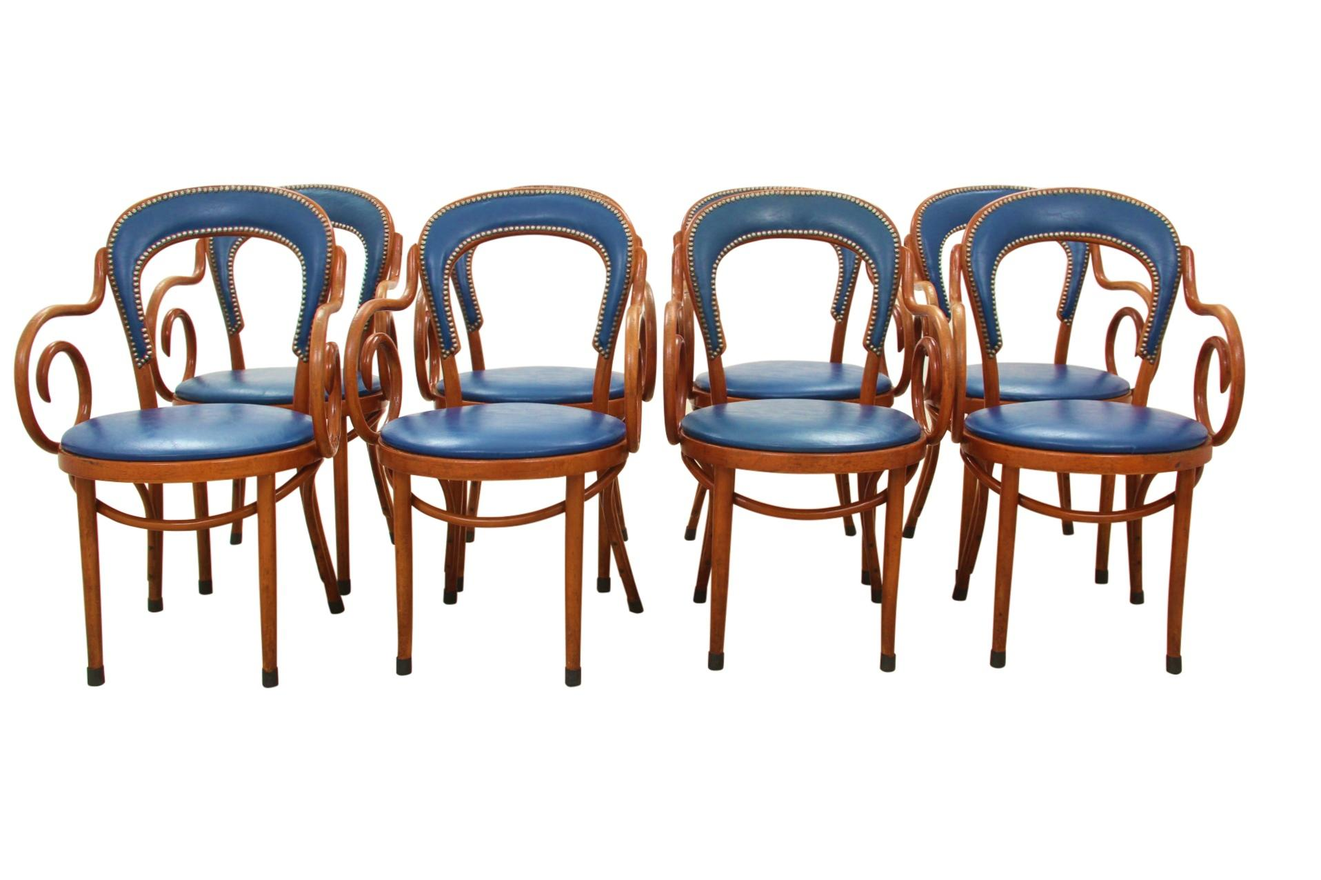 Shelby Williams Bistro Chairs In Navy   Set Of 8   Image 7 Of 7