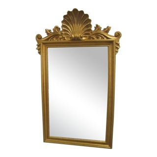 French Regency Shell Gold Mirror