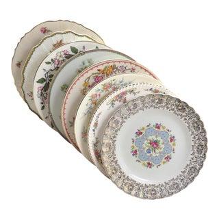 Vintage Mismatched Fine China Dinner Plates - Set of 8