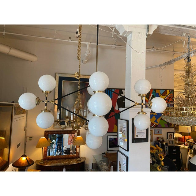 Design Plus Gallery presents a Bistro Four Arm Chandelier by Visual Comfort. Designed by Ian K. Flowler. A hand-rubbed...