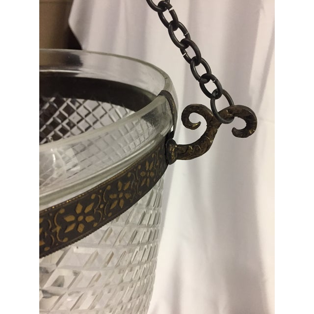 1970s 1970s Bell Jar Lantern With Etched Glass For Sale - Image 5 of 11