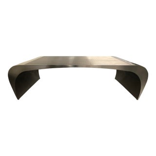 Industrial Curved Steel Coffee Table