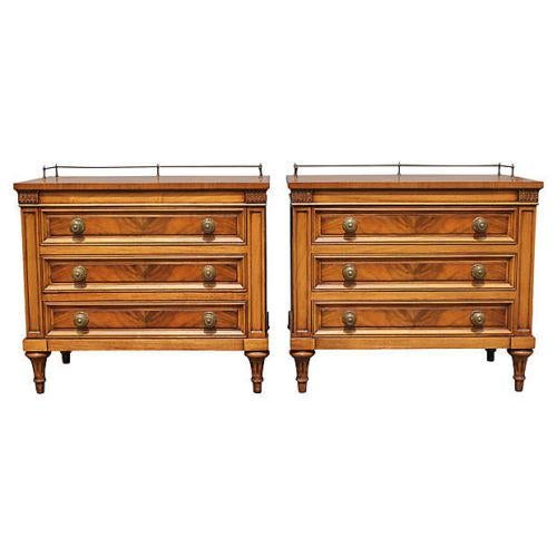 1960's Neoclassical Style Nightstands - A Pair - Image 1 of 8