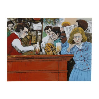David Azuz, the Select Montparnasse, Lithograph For Sale
