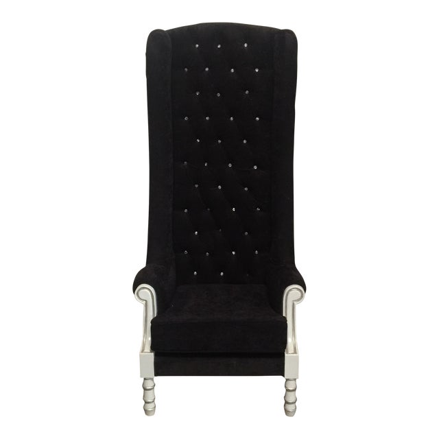 Black Tall Throne Chair For Sale