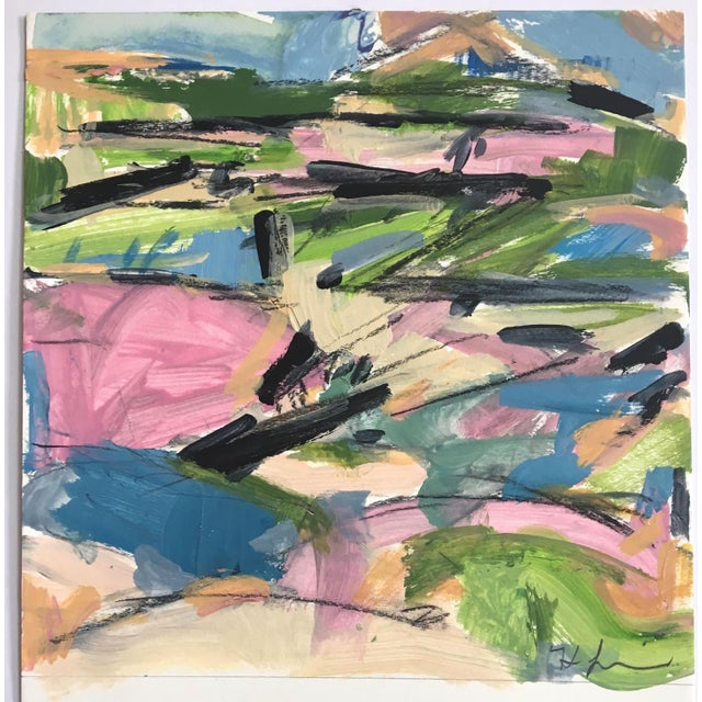 This sketch is from my landscape series, this series is a progression into a more vibrant and complex color palette;...