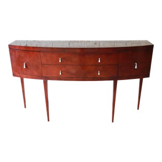 Baker Furniture Neoclassical Satinwood Sideboard Buffet For Sale