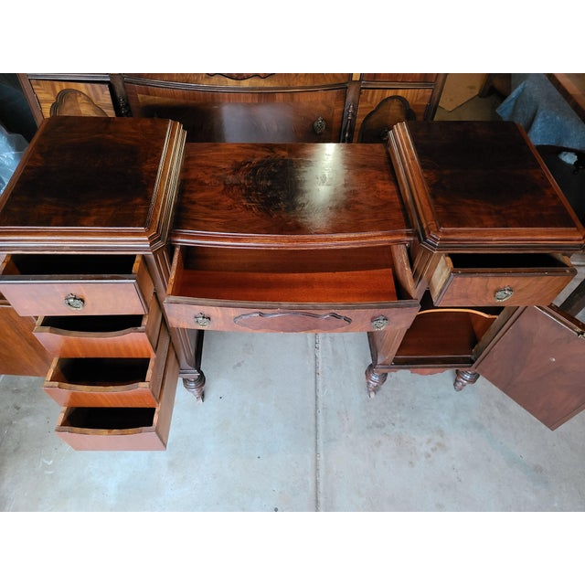 Impressive, magnificent, awe-inspiring regency solid wood sideboard/ console table, vanity (of your choice) with burl...