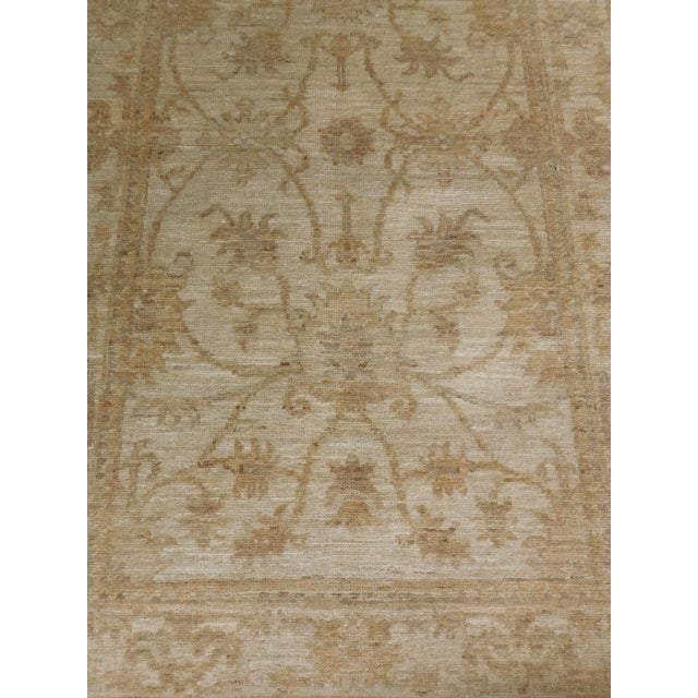 "Persian Pakistan Neutral Floral Pattern Rug - 2'10""x 4'5"" For Sale - Image 3 of 6"