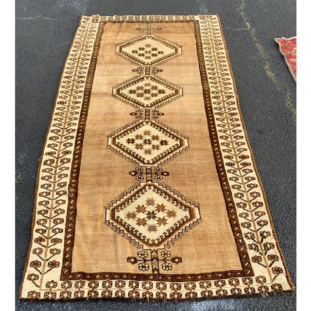 "1950's Vintage Persian Gabbeh Area Rug 4'x7'9"" For Sale - Image 13 of 13"