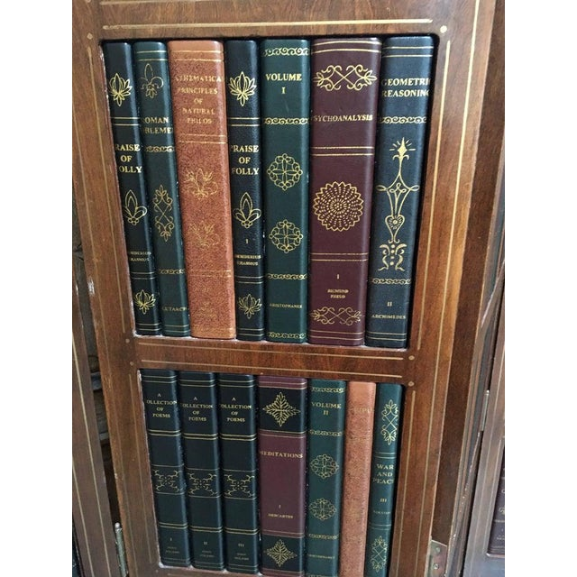 20th Century Leather Book Room Divider For Sale In Los Angeles - Image 6 of 9