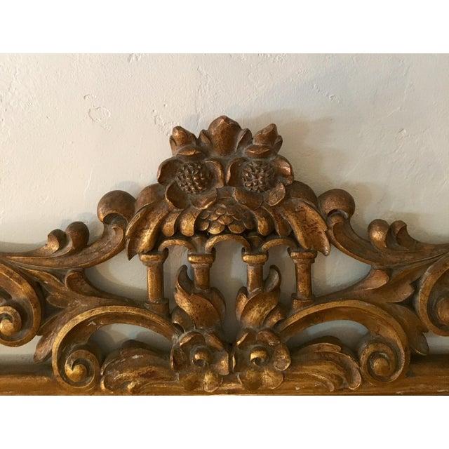 Gilt Finish Carved Italian Mirror - Image 8 of 11