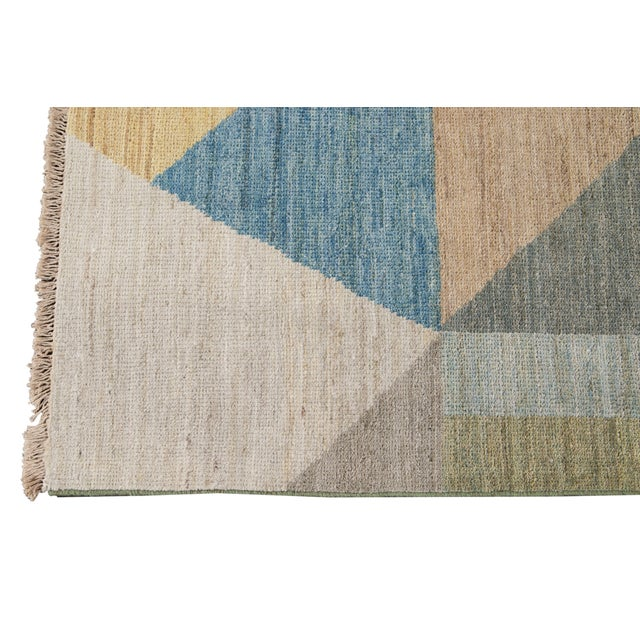 Contemporary 21st Century Modern Deco Wool Rug For Sale - Image 3 of 11