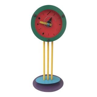1980s Memphis Style Wakita Tabletop Clock For Sale