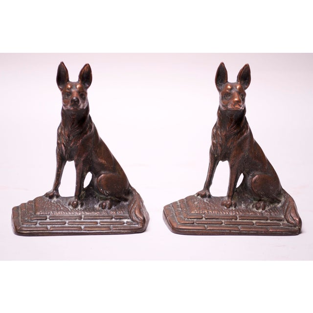 Pair of 1920s Art Colony Industries Cast Iron 'German Shepherd' Bookends For Sale - Image 13 of 13