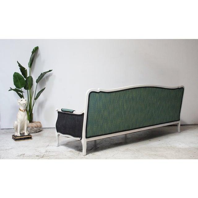 Antique Louis Canapé Black Velvet Sofa - Image 4 of 10