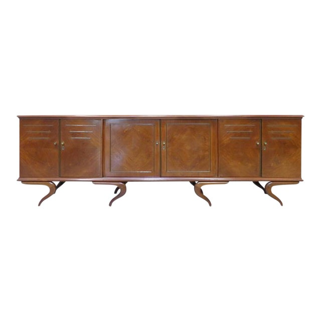 Monumental and Important Sculptural Credenza Giusseppe Scapinelli, circa 1960 For Sale