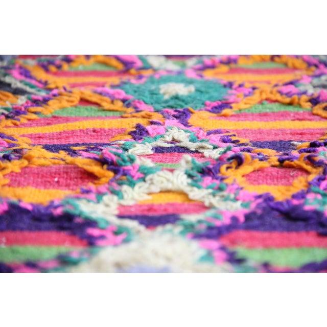"Boho Chic Vintage Moroccan Carpet - 1'2"" x 3'6"" For Sale - Image 3 of 6"
