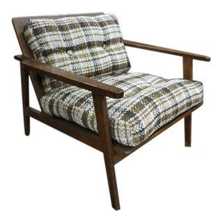 Vintage Mid-Century Modern Walnut Lounge Chair For Sale