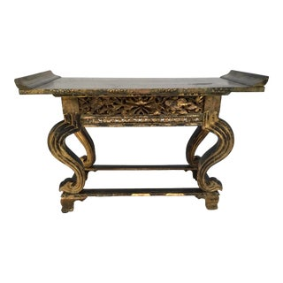 Antique Japanese Buddhist Temple Altar Table For Sale
