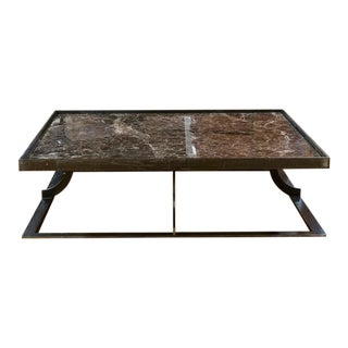 French Marble Top Cocktail Table For Sale
