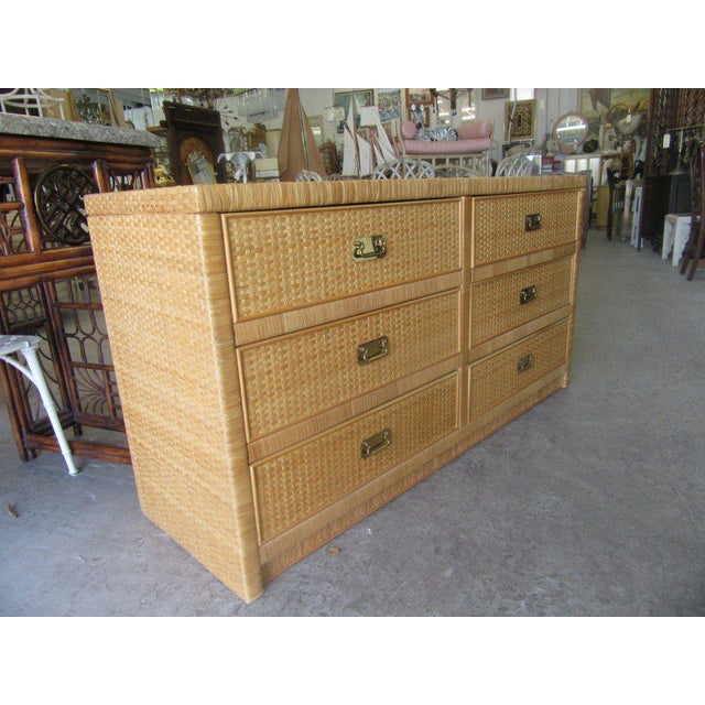 Woven Dixie Island Style Dresser - Image 3 of 9