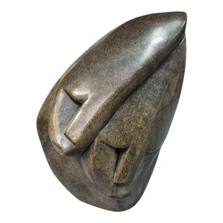 3rd Quarter 20th Century Shona Mother and Child Stone Carving From Zimbabwe For Sale