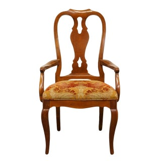 Late 20th Century Vintage Ethan Allen Maison Collection Splat Back Dining Arm Chair For Sale