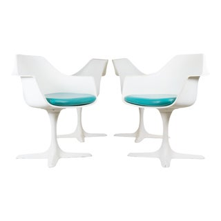 Burke Tulip Dining Chairs - Set of 4 For Sale